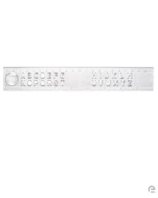 Picture of PLASTIC STENCIL RULER in Clear Transparent