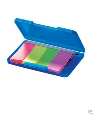 Picture of NEON FLUORESCENT ADHESIVE PAPER NOTE HOLDER with Pencil