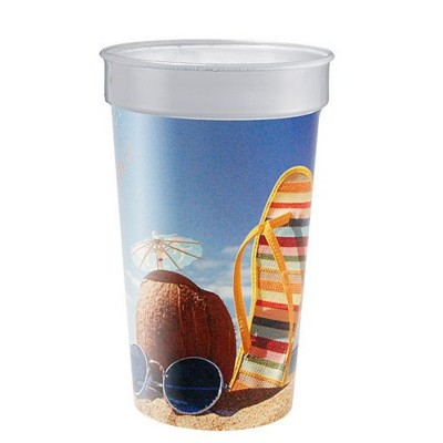 Picture of IMOULD BRANDED PLASTIC DRINK CUP in Clear Transparent