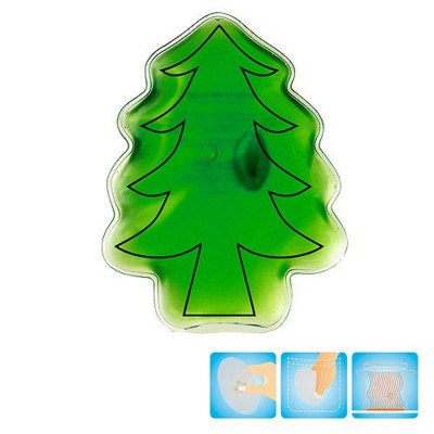 Picture of CHRISTMAS TREE SHAPE HEATED GEL HOT PACK HAND WARMER in Green