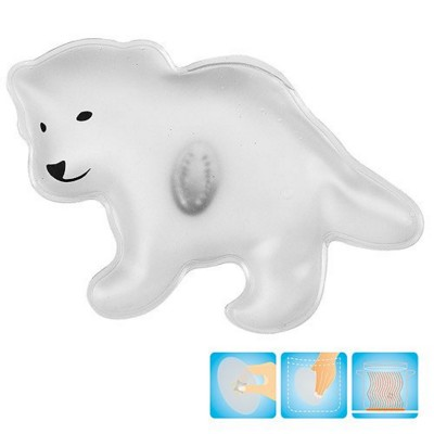Picture of POLAR BEAR SHAPE HEATED GEL HOT PACK HAND WARMER in Red