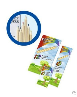 Picture of 6 WOOD COLOURING PENCIL SET