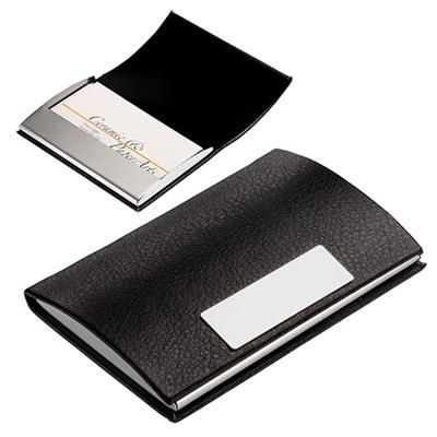 Picture of BUSINESS CARD HOLDER VITA, BLACK-SILVER