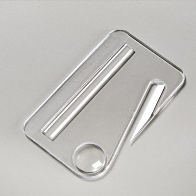Picture of MULTI FUNCTION LETTER OPENER in Clear Transparent