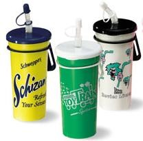 Picture of DRINK BEAKER TRAVEL MUG with Straw