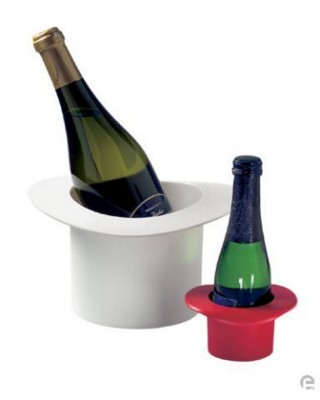 Picture of TOP HAT WINE BOTTLE TABLE COOLER PLASTIC HOLDER