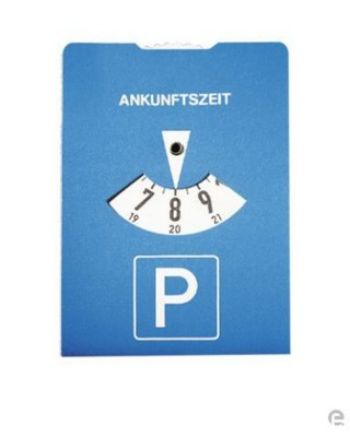 Picture of SQUARE CAR PARKING ROUND DISC in Blue