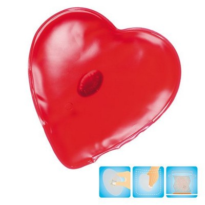 Picture of HEART SHAPE HEATED GEL HOT PACK HAND WARMER in Red