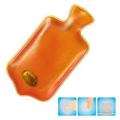 Picture of HOT WATER BOTTLE SHAPE HEATED GEL HOT PACK HAND WARMER in Translucent Orange