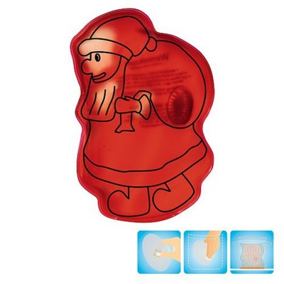 Picture of FATHER CHRISTMAS SANTA CLAUS SHAPE HEATED GEL HOT PACK HAND WARMER in Red