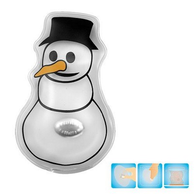 Picture of SNOWMAN SHAPE HEATED GEL HOT PACK HAND WARMER