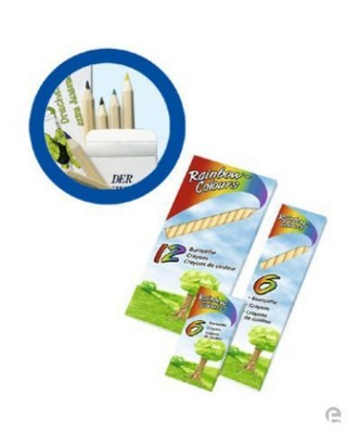 Picture of 6 WOOD SHORT COLOURING PENCIL SET