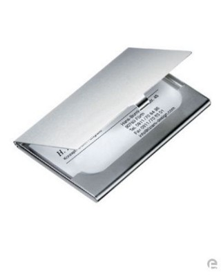Picture of BUSINESS CARD POCKET HOLDER in Silver Metal