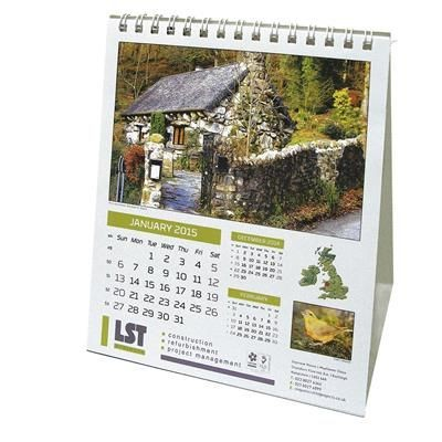Picture of COMPACT BRITIAN WILDLIFE DESK CALENDAR