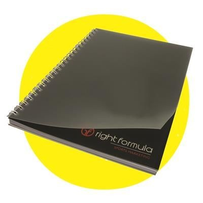 Picture of BESPOKE POLYPROPYLENE COVER SPIRAL WIRO BOUND NOTE PAD BOOK