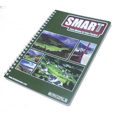Picture of BESPOKE A4 SPIRAL WIRO WIRE BOUND NOTE PAD BOOK