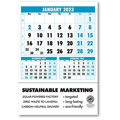 Picture of BOLD FIGURE BACK BOARD CALENDAR