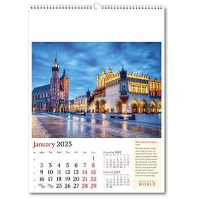Picture of TRAVELLERS WORLD WALL CALENDAR