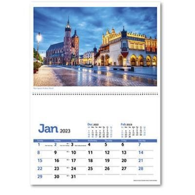 Picture of TRAVELLERS WORLD CENTRAL SPIRAL WALL CALENDAR