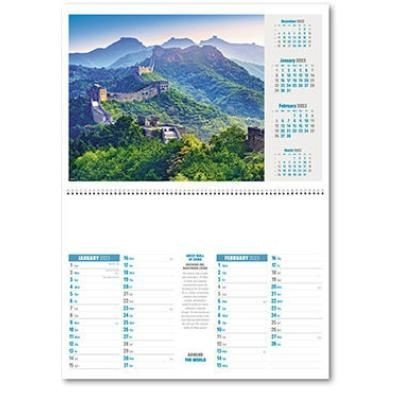 Picture of AROUND WORLD CENTRAL SPRIAL WALL CALENDAR