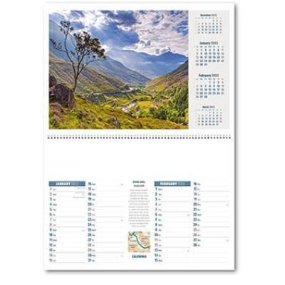 Picture of CALEDONIA CENTRAL SPIRAL WALL CALENDAR