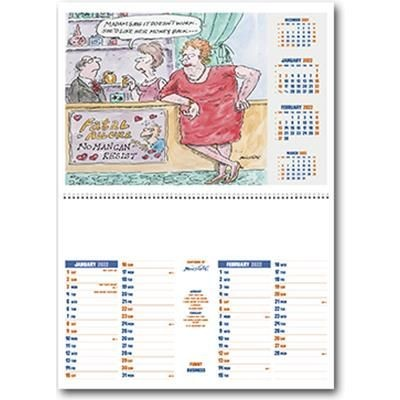 Picture of FUNNY BUSINESS CENTRAL SPIRAL WALL CALENDAR