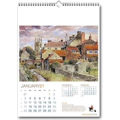 Picture of AROUND BRITAIN WALL CALENDAR