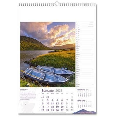 Picture of SCENIC TOUR OF SCOTLAND WALL CALENDAR