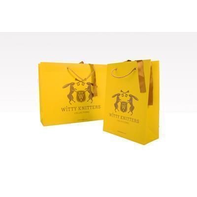 Picture of BRANDED PAPER CARRIER BAG with Rope, Ribbon or Cut-out Handle