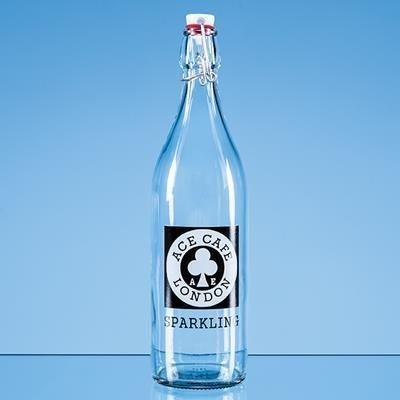 Picture of 1 LITRE ROUND WHITE CAP SWING TOP BOTTLE