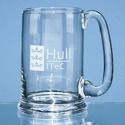 Picture of LARGE DARTINGTON CRYSTAL REAL ALE TANKARD
