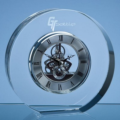 Picture of 15CM DARTINGTON CRYSTAL ROUND CLOCK