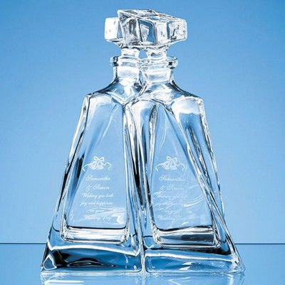 Picture of CRYSTALITE LOVERS DECANTERS