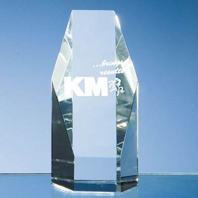 Picture of OPTICAL CRYSTAL GLASS HEXAGON AWARD