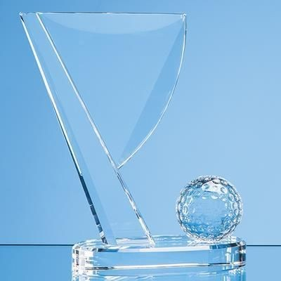 Picture of 14CM OPTICAL CRYSTAL GOLF BALL & FLAG AWARD