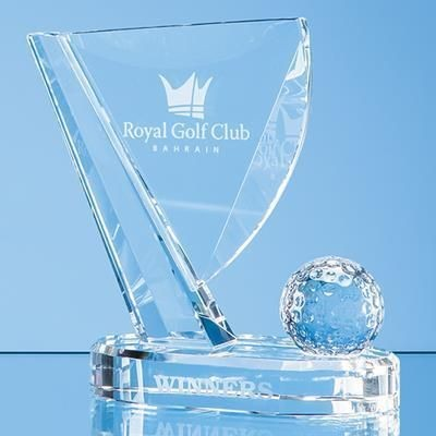 Picture of 18CM OPTICAL CRYSTAL GOLF BALL & FLAG AWARD