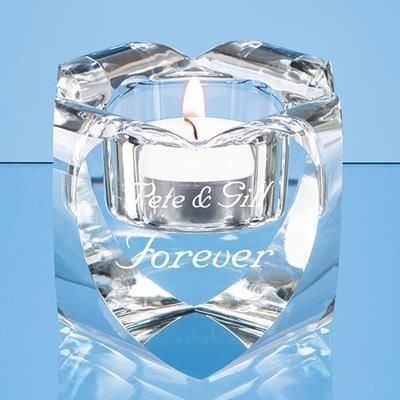 Picture of 6CM OPTICAL CRYSTAL HEART TEALIGHT HOLDER