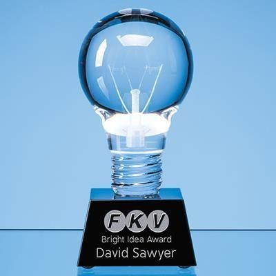 Picture of OPTICAL CRYSTAL LIGHT BULB AWARD