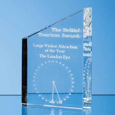 Picture of 20CM OPTICAL CRYSTAL DIAGONAL SLOPE AWARD