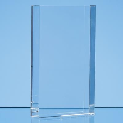 Picture of 17CM x 10CM OPTICAL CRYSTAL RECTANGULAR AWARD