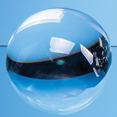Picture of 8CM OPTICAL CRYSTAL FACET EDGED DOME PAPERWEIGHT