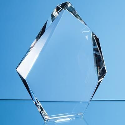 Picture of 15CM OPTICAL CRYSTAL FACETTED ICE PEAK AWARD