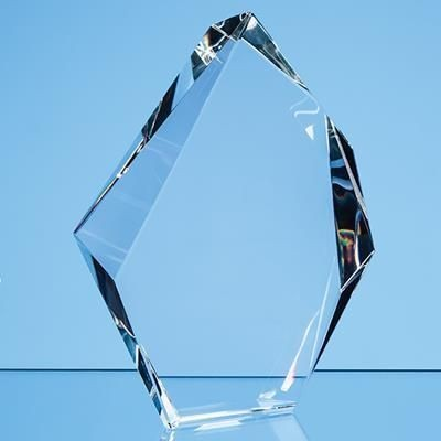 Picture of 18CM OPTICAL CRYSTAL FACETTED ICE PEAK AWARD