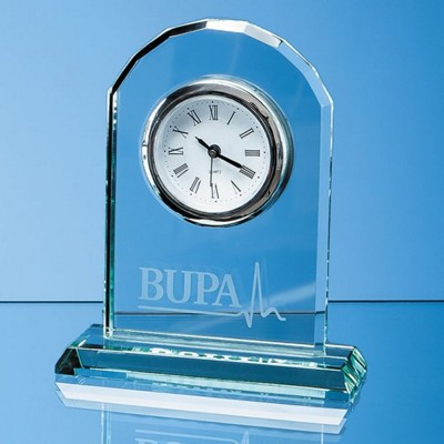 Picture of 15CM JADE GLASS ARCH CLOCK