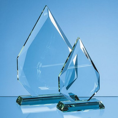 Picture of JADE GLASS FACETTED DIAMOND PEAK AWARD
