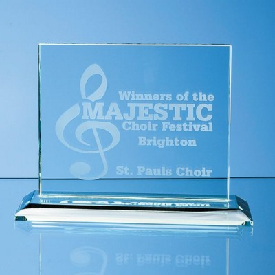 Picture of JADE GLASS HORIZONTAL RECTANGULAR AWARD