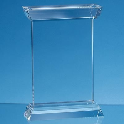 Picture of 18CM OPTICAL CRYSTAL PORTUNUS MOUNTED RECTANGULAR AWARD