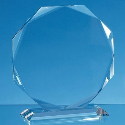 Picture of 19X19X15MM CLEAR TRANSPARENT GLASS FACETTED OCTAGON AWARD