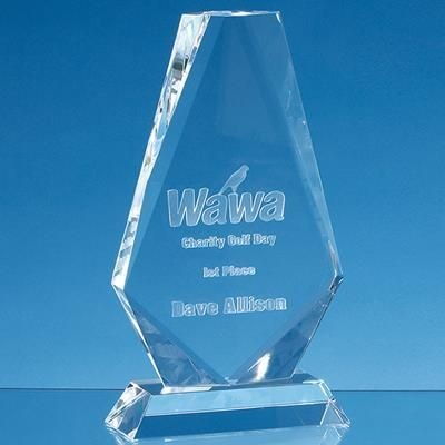 Picture of 17CM OPTICAL CRYSTAL CROPPED ICEBERG AWARD
