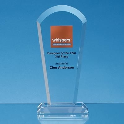 Picture of 21CM OPTICAL CRYSTAL HALF MOON ARCH AWARD